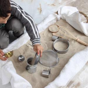 spazio sabbia al Family care - Festival per l'infanzia e chi se ne prende cura - organizzato da Edufrog ed Emmi's care